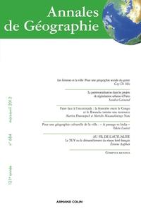 ANNALES DE GEOGRAPHIE N  684 (2/2012)
