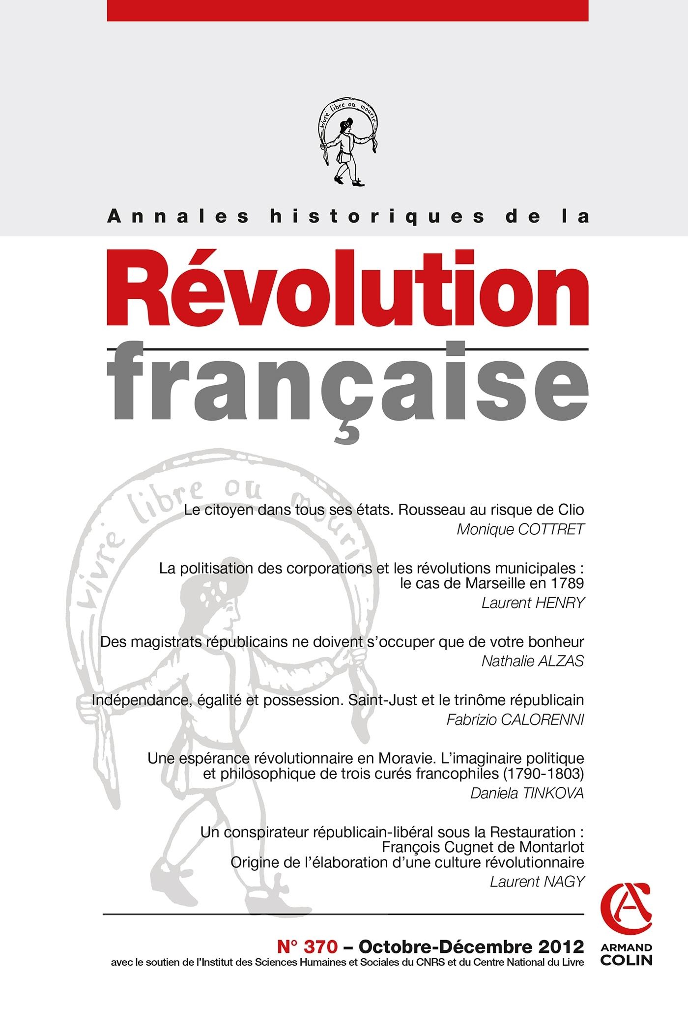 ANNALES HISTORIQUES DE LA REVOLUTION FRANCAISE N  370 (4/2012)