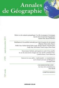 ANNALES DE GEOGRAPHIE N  693 (5/2013)