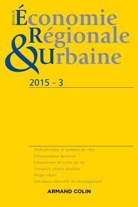 REVUE D'ECONOMIE REGIONALE ET URBAINE N  3/2015 VARIA