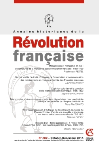 ANNALES HISTORIQUES DE LA REVOLUTION FRANCAISE N  382 (4/2015) VARIA