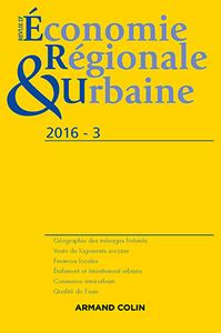 REVUE D'ECONOMIE REGIONALE ET URBAINE N  3/2016 VARIA