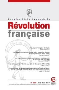 ANNALES HISTORIQUES DE LA REVOLUTION FRANCAISE N 388 (2/2017) VARIA