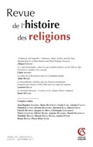 REVUE DE L'HISTOIRE DES RELIGIONS  (3/2017) VARIA