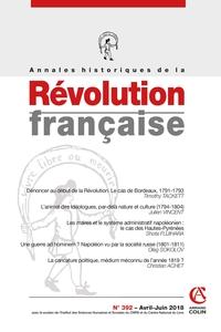 ANNALES HISTORIQUES DE LA REVOLUTION FRANCAISE N 392 2/2018 VARIA