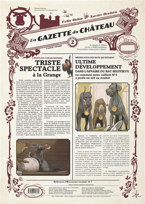 LA GAZETTE DU CHATEAU - LE CHATEAU DES ANIMAUX - T2
