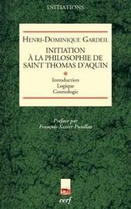 T1 INITIATION A LA PHILOSOPHIE DE SAINT THOMAS D AQUIN  I