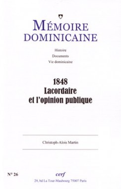 1848 LACORDAIRE ET L'OPINION PUBLIQUE