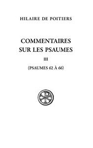COMMENTAIRE SUR LES PSAUMES III