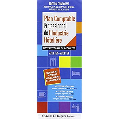 PACK 12/13 PLAN COMPTABLE HOTELIER 2012 2013