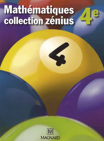 ZENIUS 4E MATHEMATIQUES GRAND FORMAT