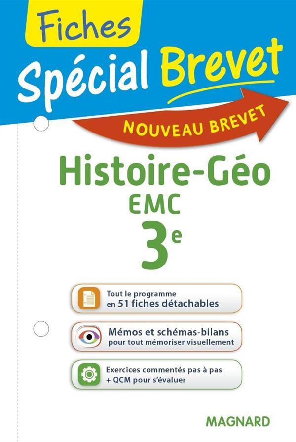 2016 SPECIAL BREVET FICHES HISTOIRE GEO EMC 3E