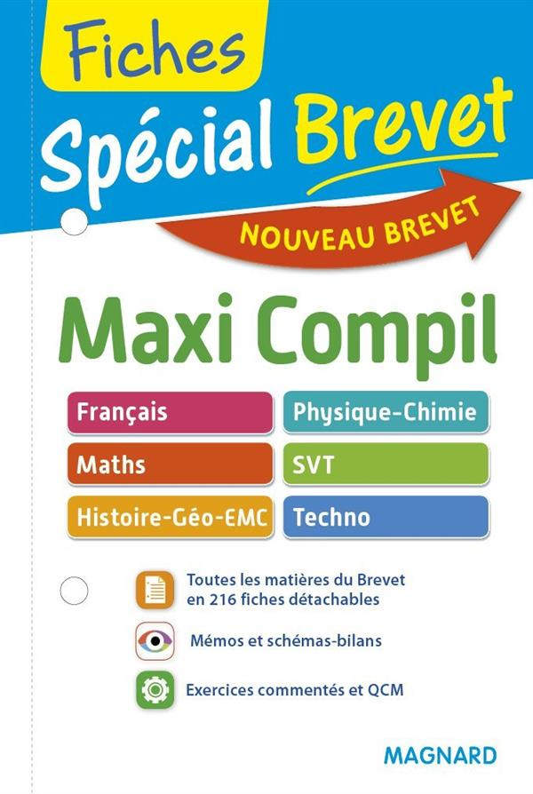 2016 SPECIAL BREVET MAXI COMPIL FRANCAIS MATHS SVT TECHNO HIST GEOG EMC PHY CH