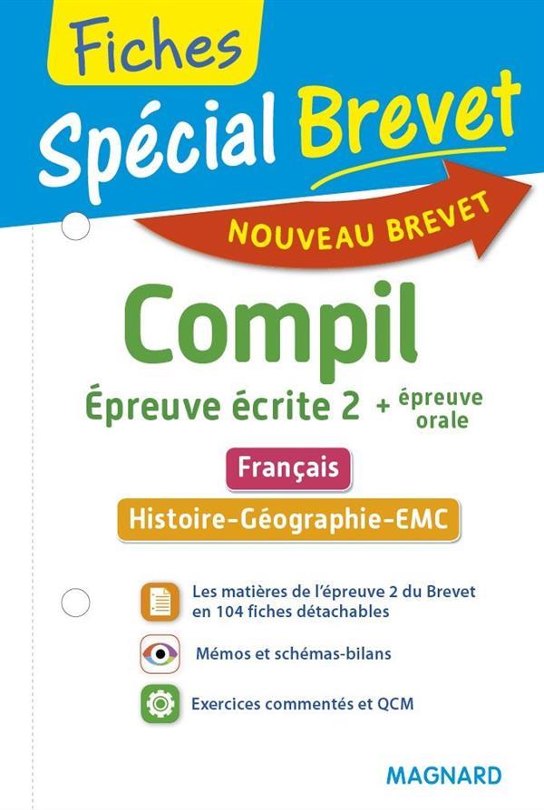 2016 SPECIAL BREVET COMPIL DE FICHES EPREUVE ECRITE 2 + EP ORALE FRANC HIST GE