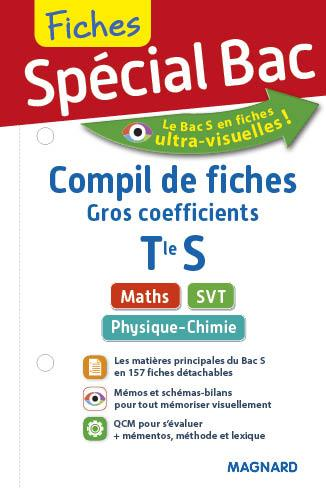 """2017 SPECIAL BAC COMPIL DE FICHES """"GROS COEFF"""" TERM S"""