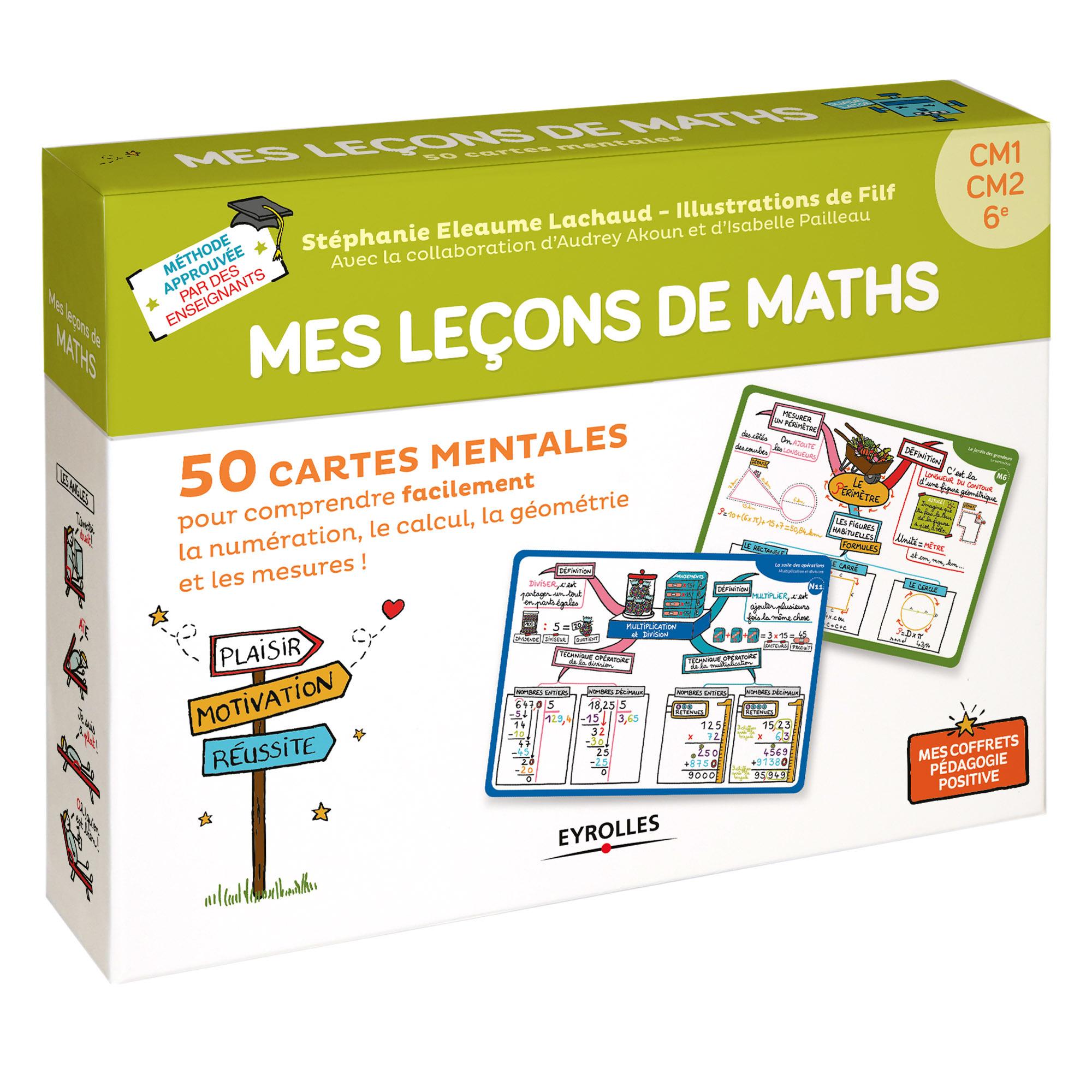 COFFRET MES LECONS DE MATHS CM1 CM2 6E - 50 CARTES MENTALES POUR COMPRENDRE FACILEMENT LA NUMERATION