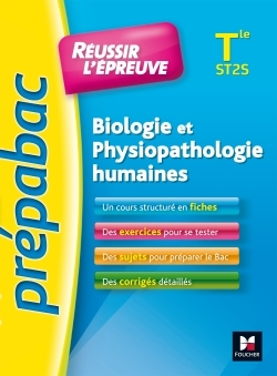 PREPABAC - BIOLOGIE ET PHYSIOPATHOLOGIE HUMAINES TERMINALE ST2S - N 1