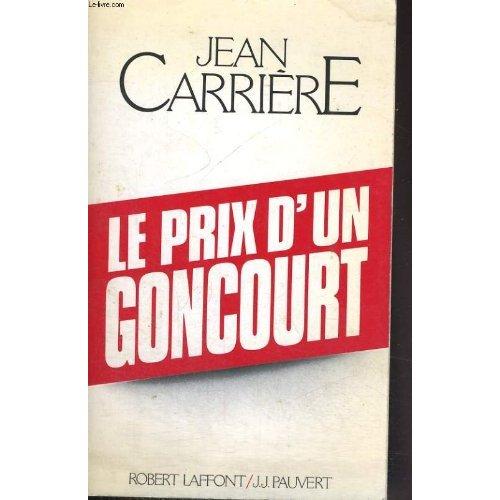 LE PRIX D'UN GONCOURT