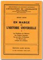 EN MARGE DE L'HISTOIRE UNIVERSELLE