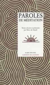 PAROLES DE MEDITATION