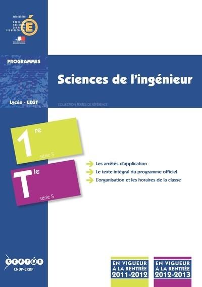 SCIENCES DE L'INGENIEUR - CLASSES DE PREMIERE ET DE TERMINALE S