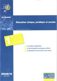 EDUCATION CIVIQUE, JURIDIQUE ET SOCIALE - CLASSE DE PREMIERE DES SERIES GENERALES