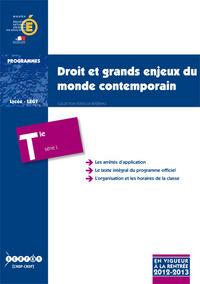 DROIT ET GRANDS ENJEUX DU MONDE CONTEMPORAIN - TERMINALE SERIE L