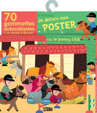 GOMMETTES POSTER PONEY-CLUB