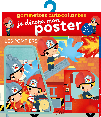 GOMMETTES POSTER LES POMPIERS