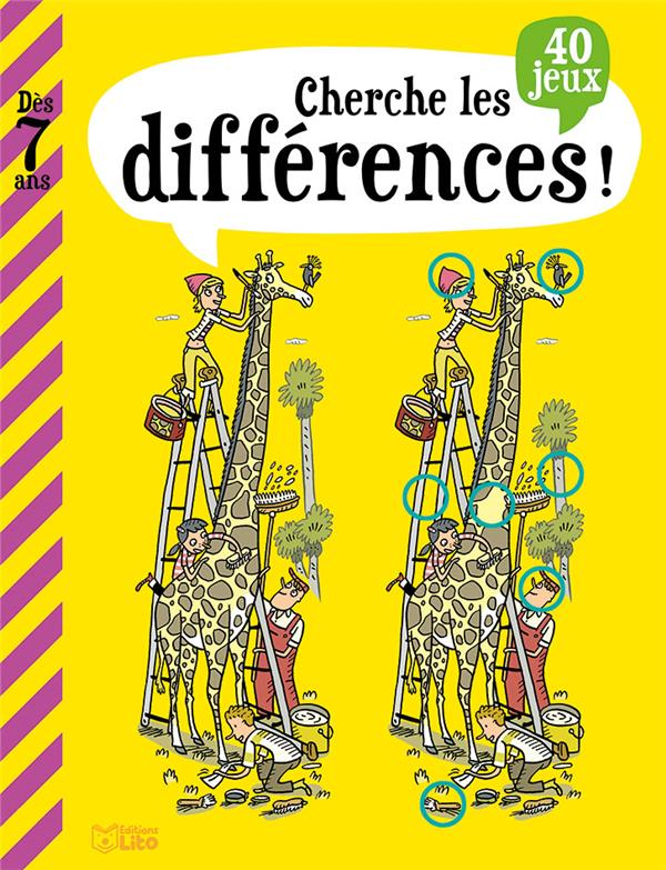 LIVRE JEUX CHERCHE DIFFERENCES