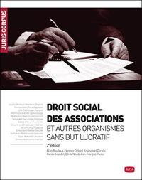 DROIT SOCIAL DES ASSOCIATIONS ET AUTRES ORGANISMES SANS BUT LUCRATIF - 2E ED.