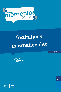 INSTITUTIONS INTERNATIONALES - 20E ED.
