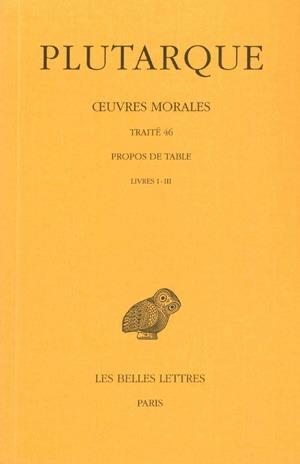OEUVRES MORALES T9 (1ERE PARTIE)