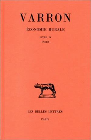 ECONOMIE RURALE. TOME III : LIVRE III - INDEX