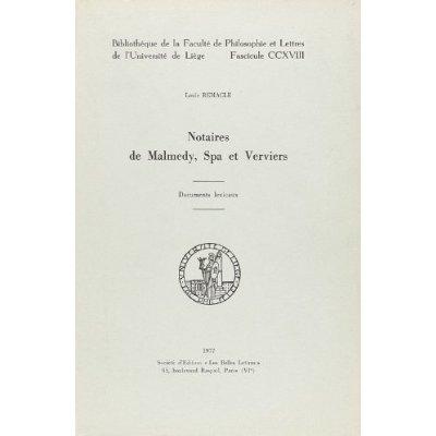 NOTAIRES DE MALMEDY, SPA ET VERVIERS