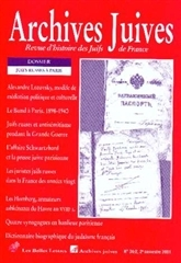 ARCHIVES JUIVES 34/2-2001 JUIFS RUSSES A PARIS