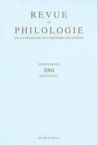 REVUE DE PHILOLOGIE 78-2