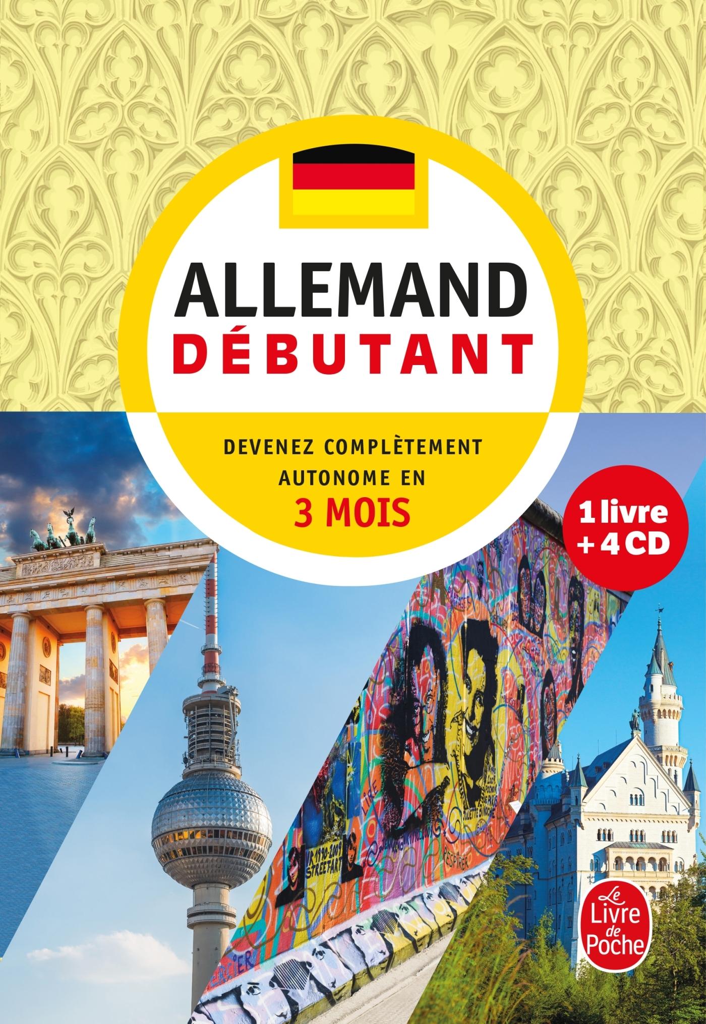 COFFRET ALLEMAND DEBUTANT LIVRE + 4 CD
