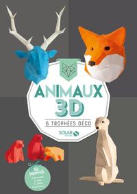 ANIMAUX 3D - 6 TROPHEES DECO