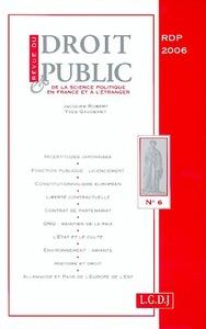 REVUE DU DROIT PUBLIC 6-2006