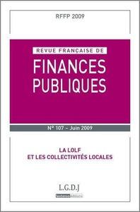 RFFP N  107 - 2009. REVUE FRANCAISE DE FINANCES PUBLIQUES