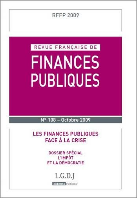 RFFP N  108-2009. REVUE FRANCAISE DE FINANCES PUBLIQUES