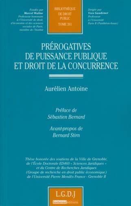 PREROGATIVES DE PUISSANCE PUBLIQUE ET DROIT DE LA CONCURRENCE