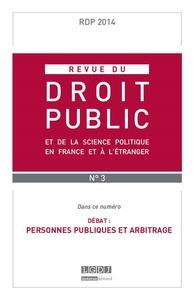 RDP - REVUE DU DROIT PUBLIC N 3-2014