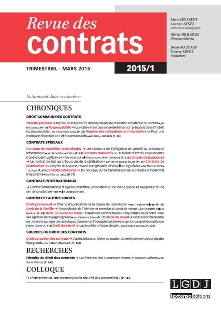 RDC - REVUE DES CONTRATS N 1-2015