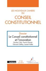 NOUVEAUX CAHIERS DU CONSEIL CONSTITUTIONNEL N 52-2016 (LES)