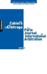 CAHIERS DE L'ARBITRAGE N 3-2016 (LES)