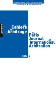 LES CAHIERS DE L'ARBITRAGE N 4-2016