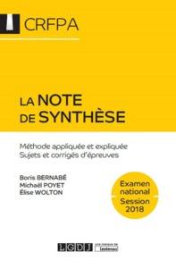 LA NOTE DE SYNTHESE 7EME EDITION