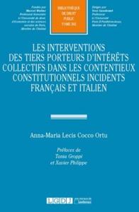 INTERVENTIONS DES TIERS PORTEURS D INTERETS COLLECTIFS DANS CONTENTIEUX CONSTIT.